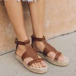 Brand new Soludos Banded Shield Leather Espadrille